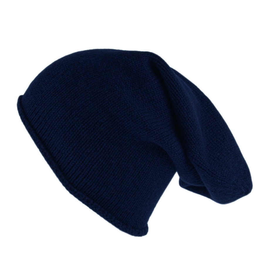 550e1ccaf9d Lyst - Black.co.uk Navy Blue Cashmere Slouch Beanie Hat in Blue for Men
