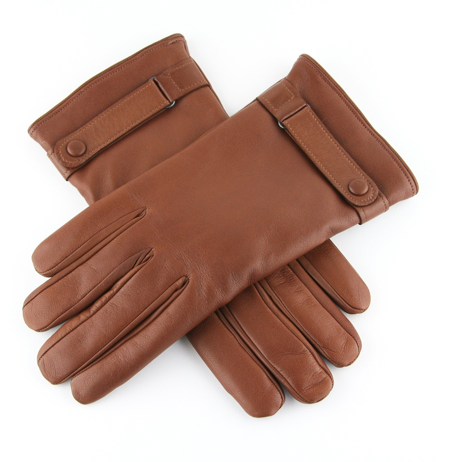 Leather mens gloves uk -  Men Lyst Black Co Uk Leather Gloves With Strap And On Detail