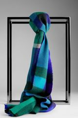 Burberry Check Wool Scarf - Lyst
