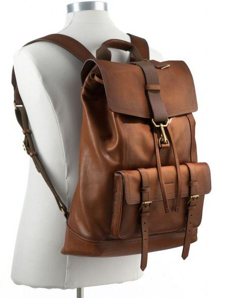 coach bleecker backpack in leather in black for men