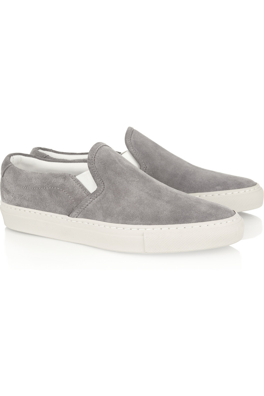 Common Projects Suede Sneakers In Gray Lyst