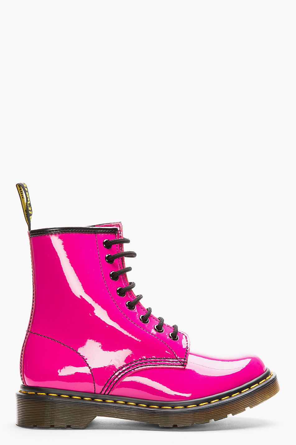 Lyst - Dr. Martens Hot Pink Patent Leather Cambridge Brush ...