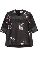 Erdem Danica Printed Leather Top - Lyst