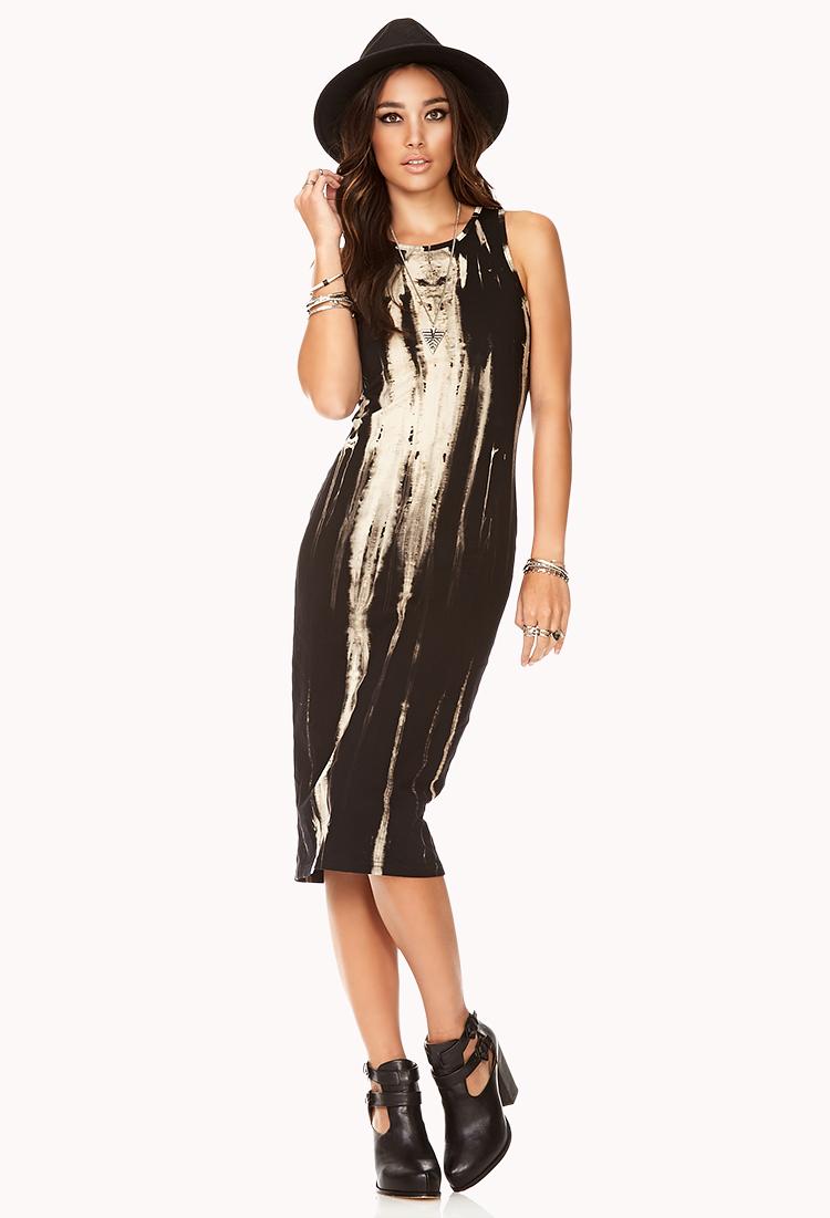 Forever 21 Cool girl Bleached Dress in Black (Black/cream ... - photo #21