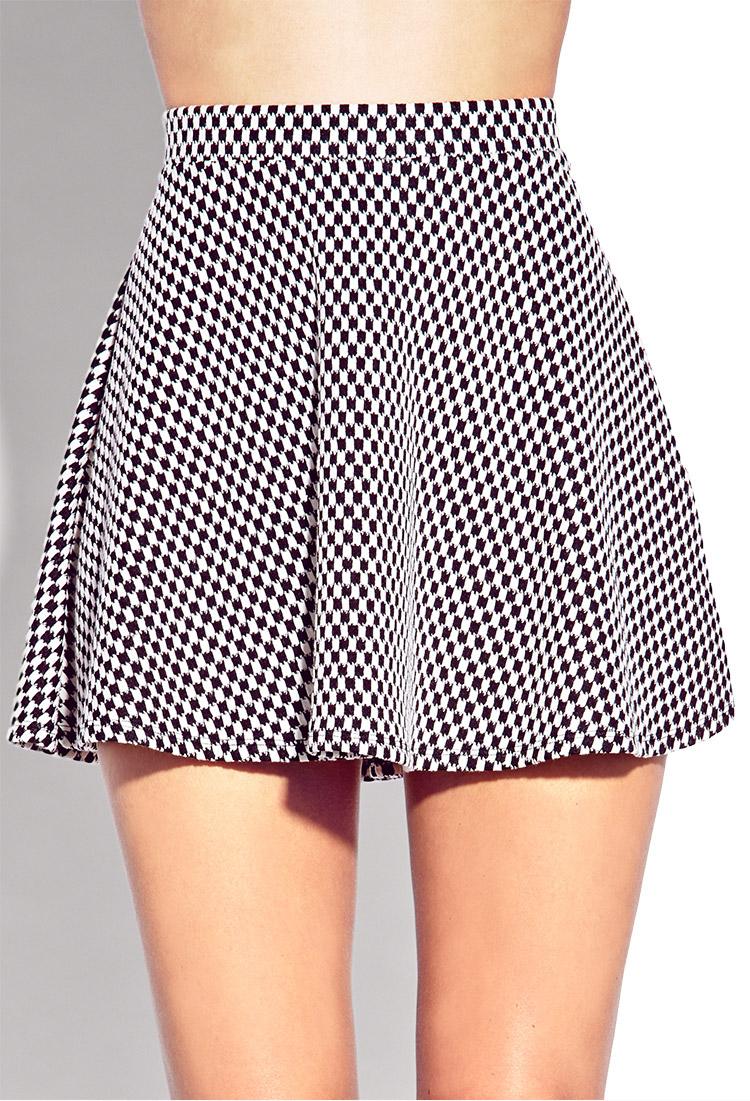 Checkered Skirt Black And White - Dress Ala