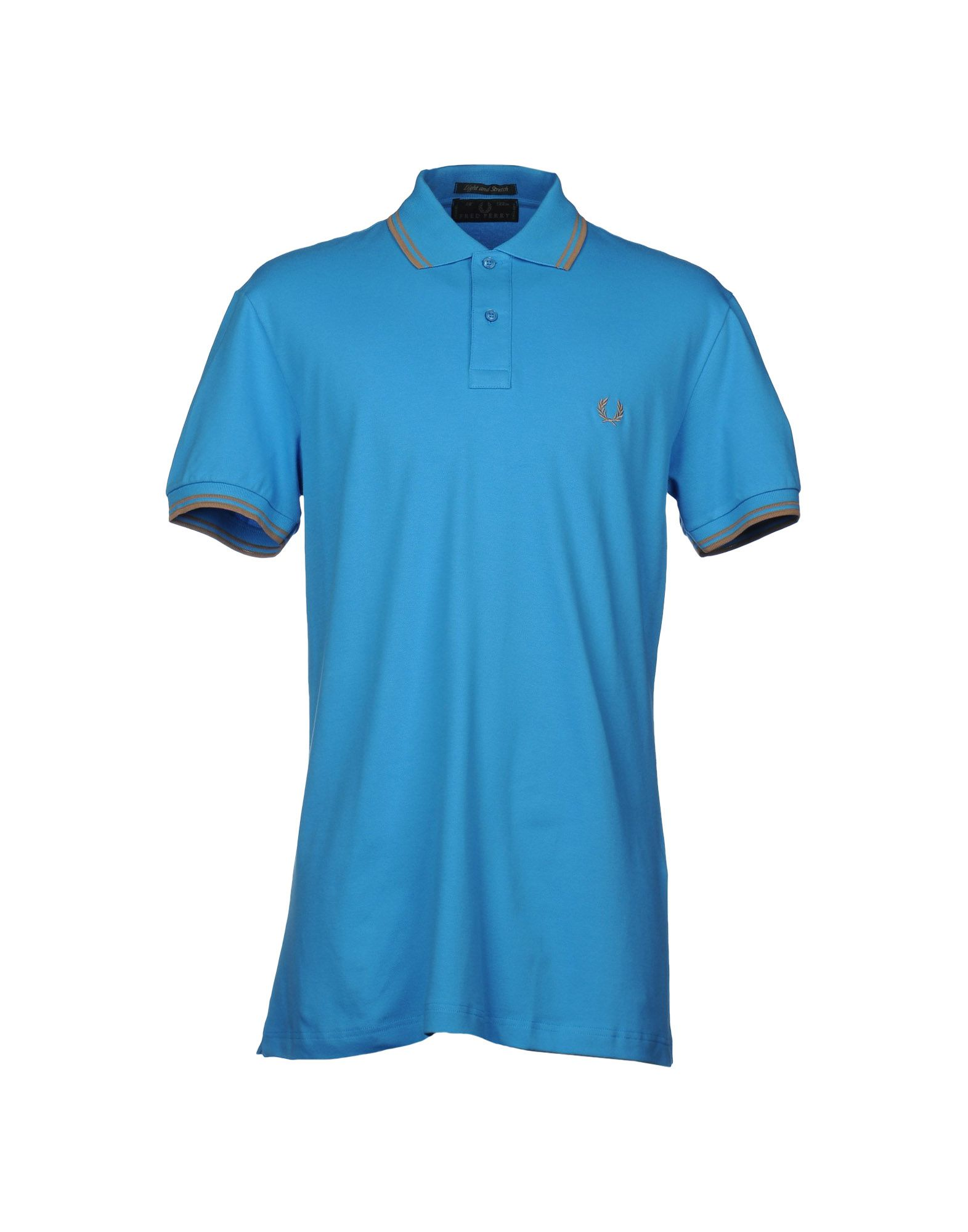 fred perry polo shirt in blue for men azure lyst. Black Bedroom Furniture Sets. Home Design Ideas