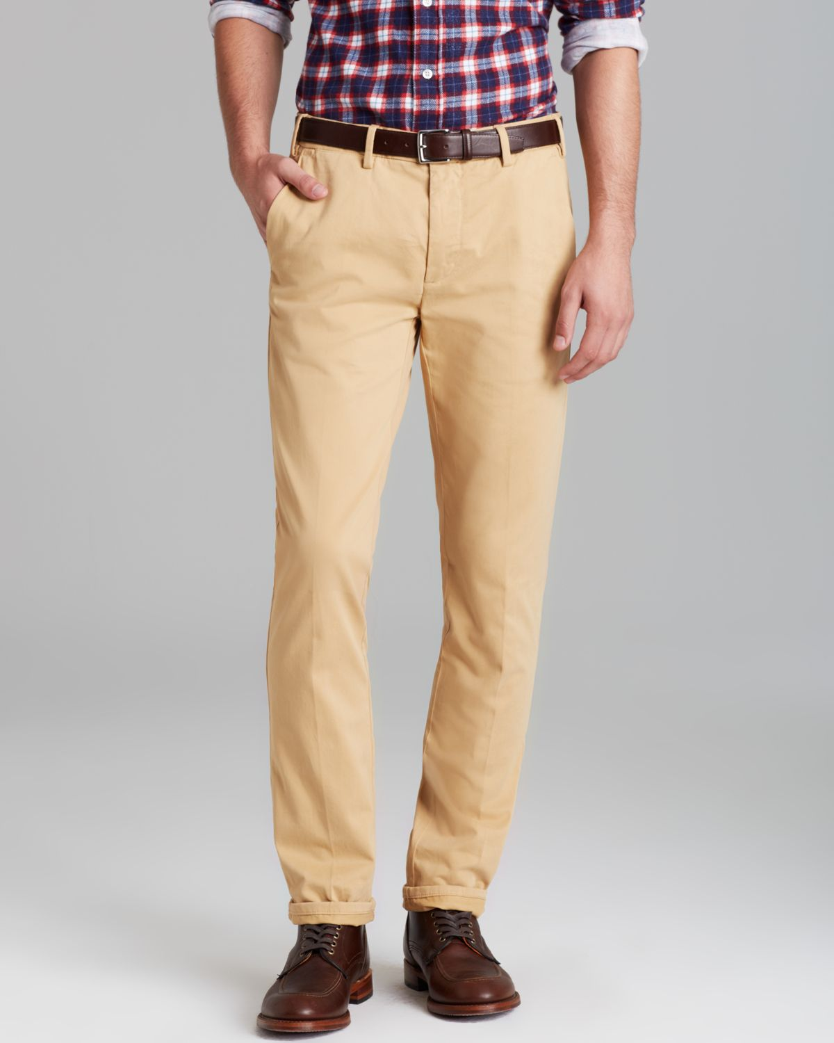 9ddbe779fa0de8 Gant Rugger Slim Fit Chino Pants in Brown for Men - Lyst