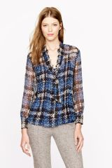 J.Crew Collection Secretary Blouse in Clip Dot Tweed - Lyst