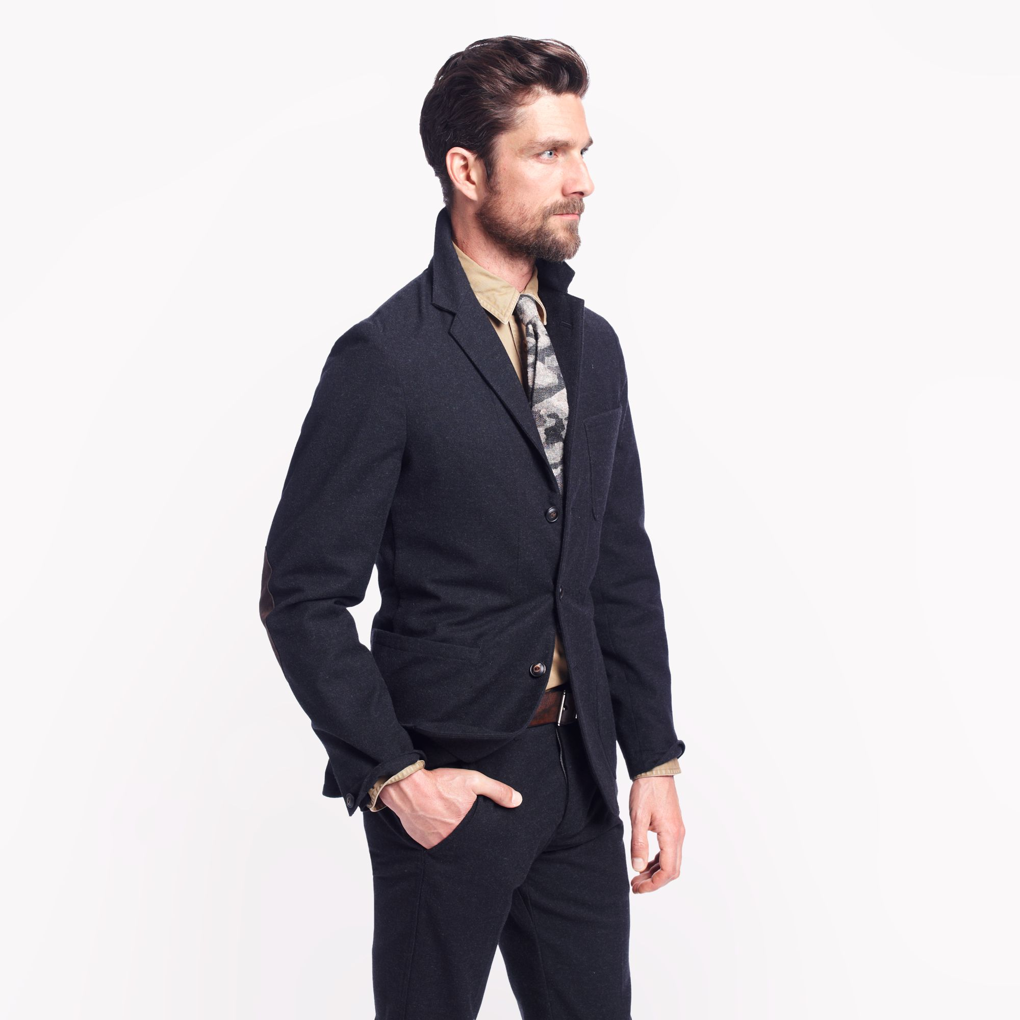 J Crew Wallace Barnes Unstructured Worker Suit Jacket In