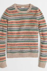 J.Crew Factory Multicolor Fair Isle Sweater - Lyst