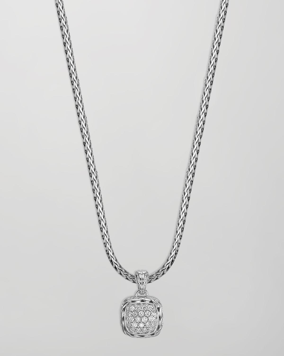 Lyst John Hardy Batu Chain Diamond Pendant Necklace In