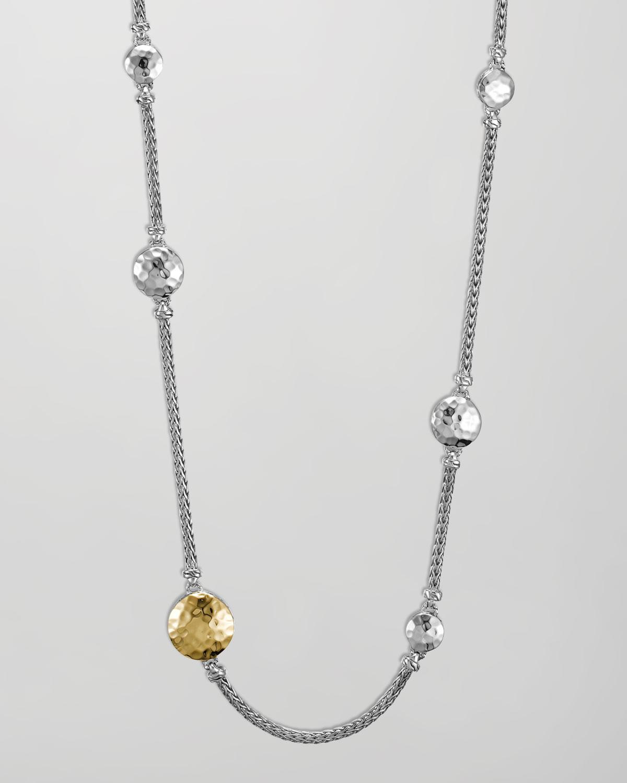 Lyst John Hardy Palu Silver Amp Gold Sautoir Necklace In