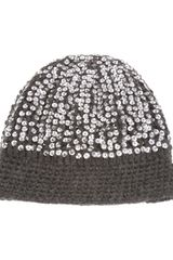 Madeleine Thompson Sequin Beanie Hat - Lyst