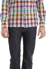 Maison Kitsuné Flannel Plaid Shirt - Lyst