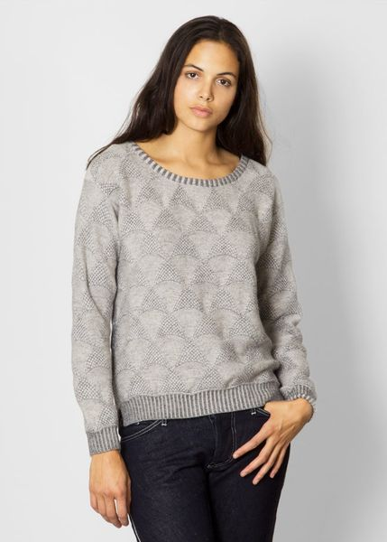 Micaela Greg Shell Pullover in Gray