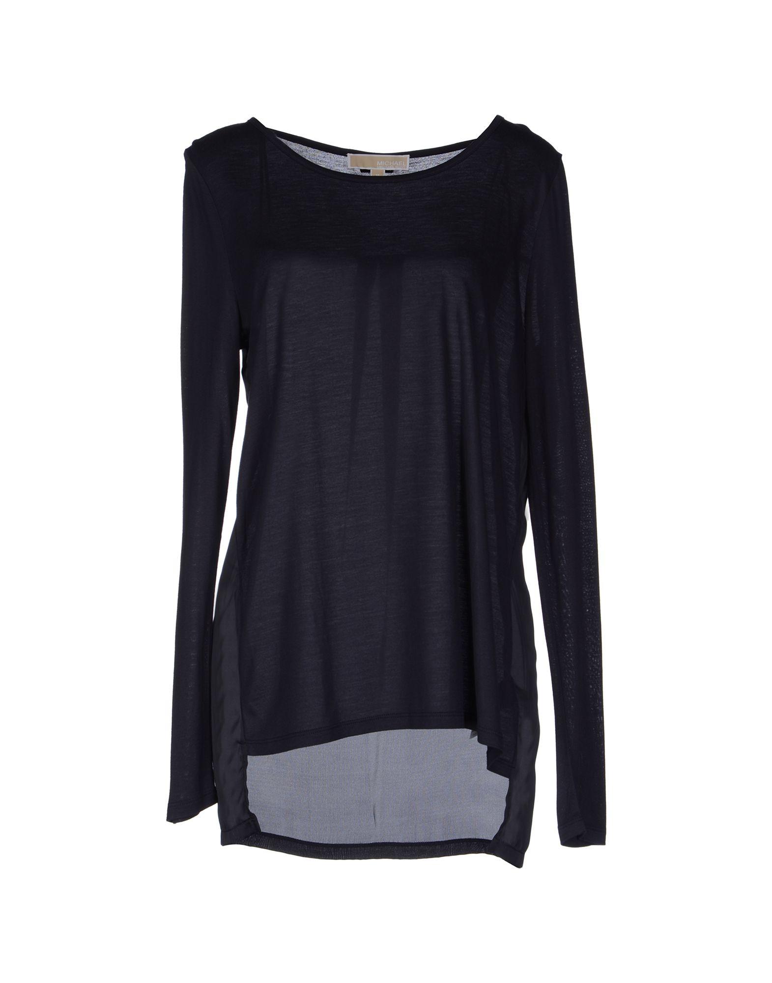 michael michael kors long sleeve tshirt in blue dark blue. Black Bedroom Furniture Sets. Home Design Ideas