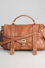 Proenza Schouler Ps1 Medium Satchel Bag Saddle - Lyst