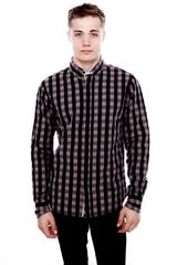 Pull&Bear Long Sleeve Check Print Shirt - Lyst