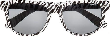 Pull&bear Zebra Print Plastic Frame Glasses in Black Lyst