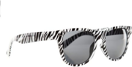 Zebra Print Glasses Frames : Pull&bear Zebra Print Plastic Frame Glasses in Black Lyst