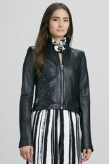 Rachel Zoe Quilted Leather Zip Jacket - Lyst
