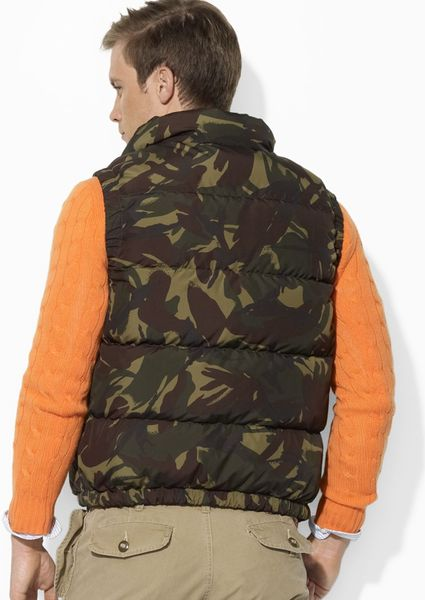 Ralph Lauren Polo Elmwood Down Vest In Green For Men