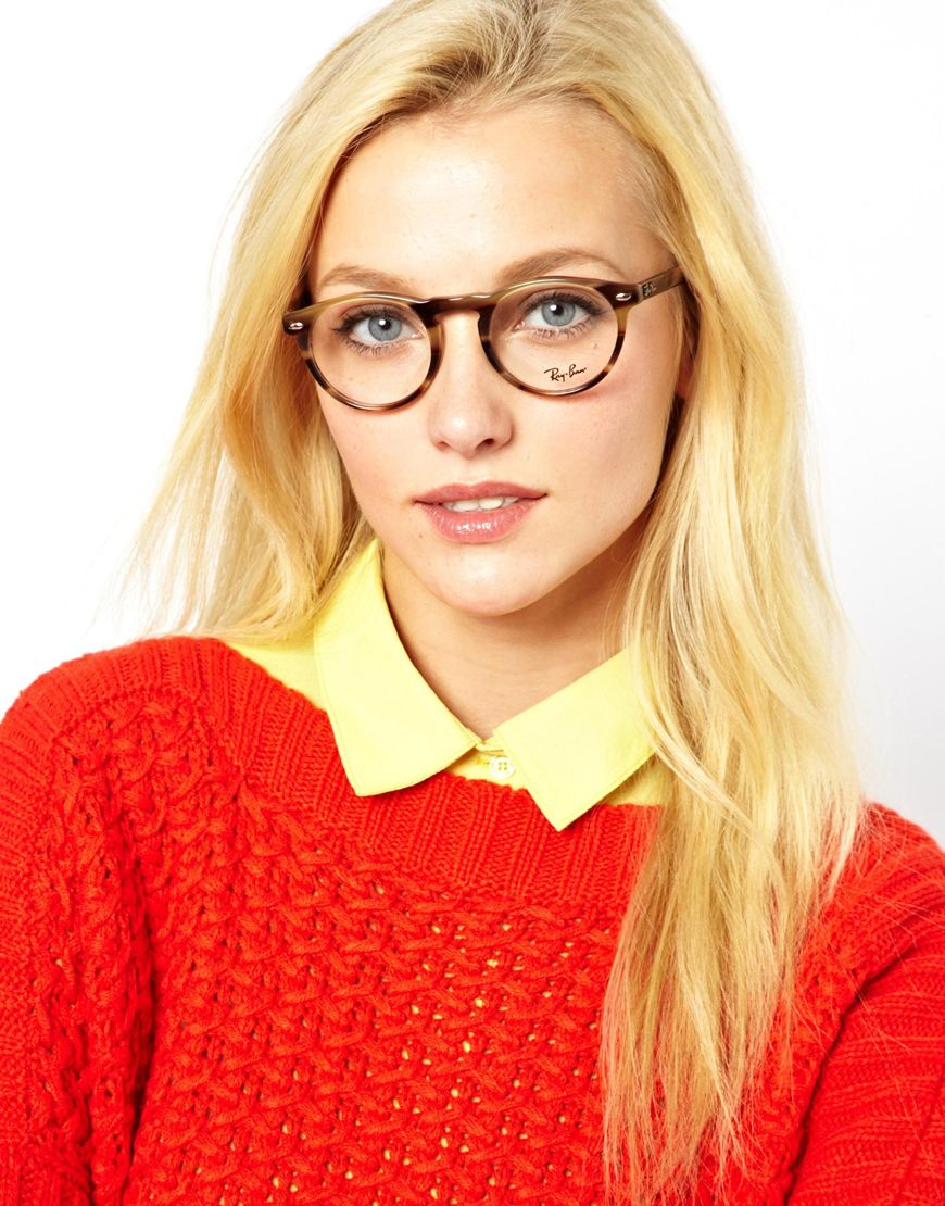 0f0ae8f6d5 Lyst - Ray-Ban Round Glasses in Brown