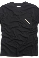 Saturdays Surf Nyc Randall Slash Pocket Crew Black - Lyst