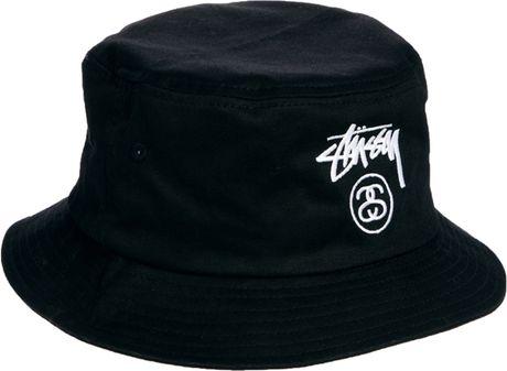Stussy Classic Bucket Hat in Black for Men | Lyst