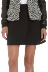 Thakoon Addition Leather Sleeve Tweed Jacket - Lyst