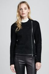 Theory Gabrelle Shearling Zip Jacket - Lyst