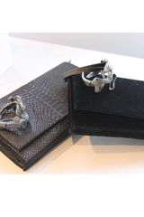 Viktor & Rolf Metallic Velvet Jeweled Cuff Bag