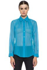 Acne Adeline Silk Top - Lyst