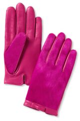 Banana Republic Haircalf Bow Glove Pink - Lyst