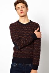 Ben Sherman Plectrum By Crew Neck Jumper - Lyst