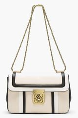 Chloé White Tricolor Leather Elsie Shoulder Bag - Lyst