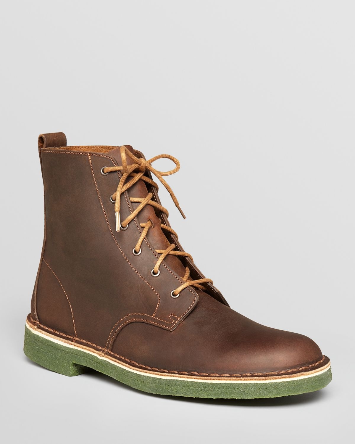 clarks desert mali leather boots in brown for men lyst