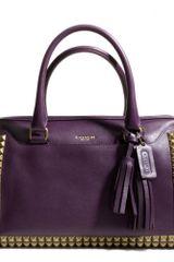 Coach Legacy Haley Satchel in Studded Leather - Lyst