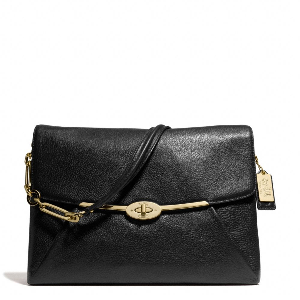 Coach Madison Shoulder Flap Bag In Leather 8