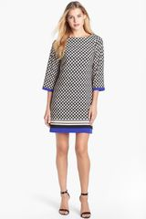 Eliza J Print Jersey Shift Dress - Lyst