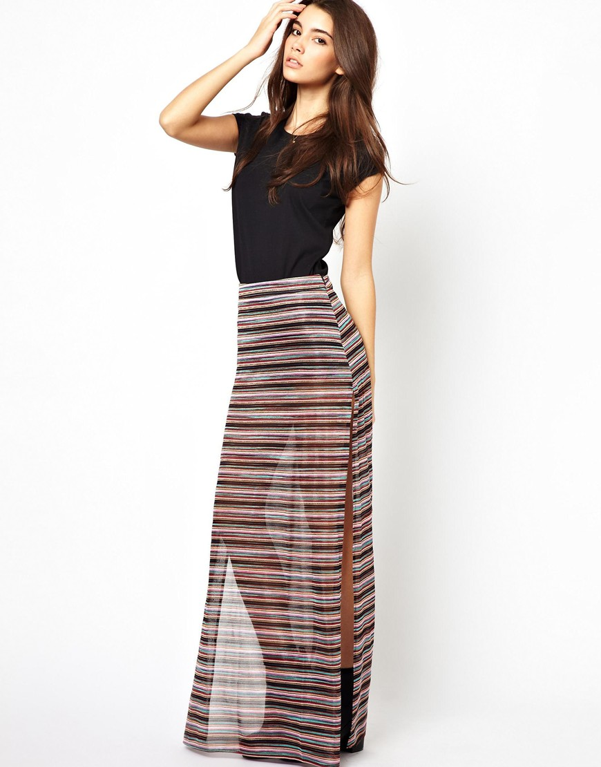 Striped maxi skirt pics – Modern skirts blog for you