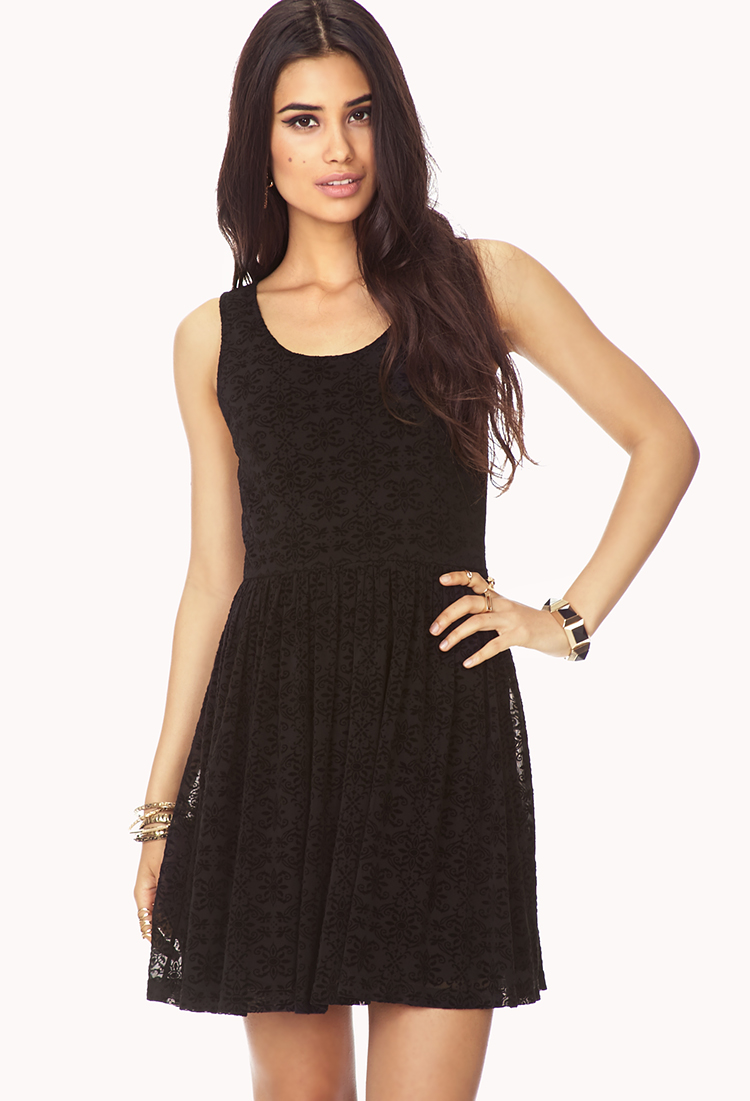 Forever 21 Poetic Fit & Flare Dress You've Been Added To ...