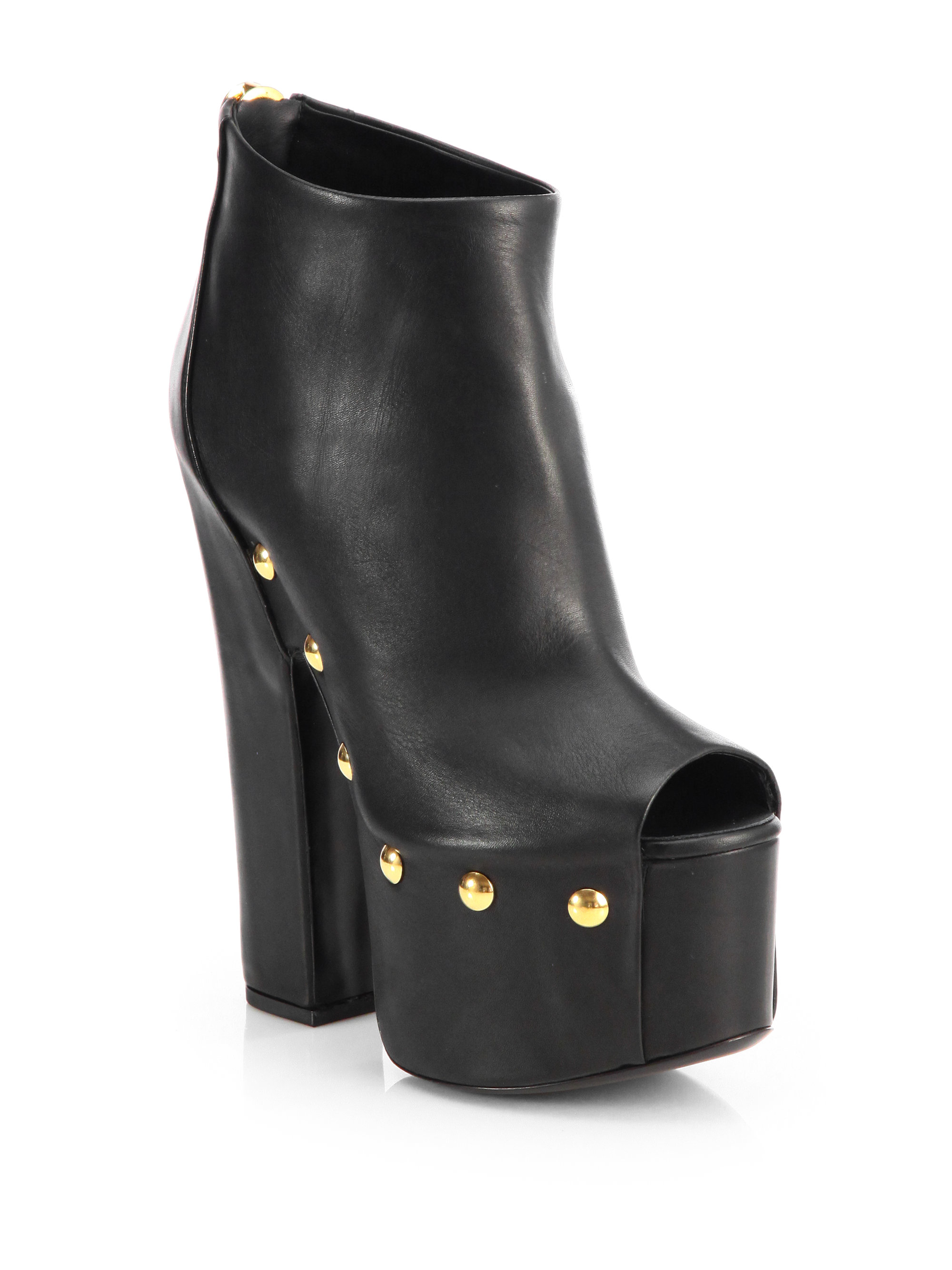 free shipping finishline cheap price free shipping Giuseppe Zanotti Leather Platform Booties original for sale manchester great sale online buy cheap visit gflW3wI7b