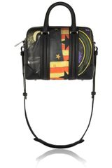 Givenchy Medium Lucrezia Bag in Printed Coated Canvas with Black Nappa Trim - Lyst