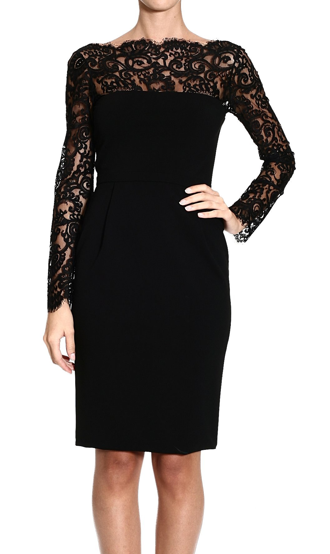 Fabulous dress in black jersey with a V neckline and long sleeves with a contrasting pattern cuff very boho with a gather around the hemline again in a contrasting material unlined stretchy and .
