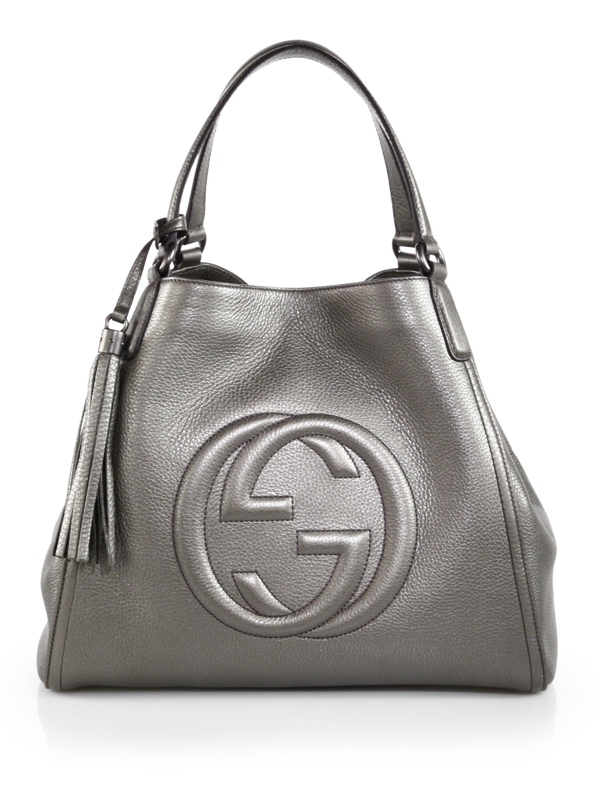 705d57adeb2 Gucci Soho Metallic Leather Shoulder Bag in Metallic - Lyst