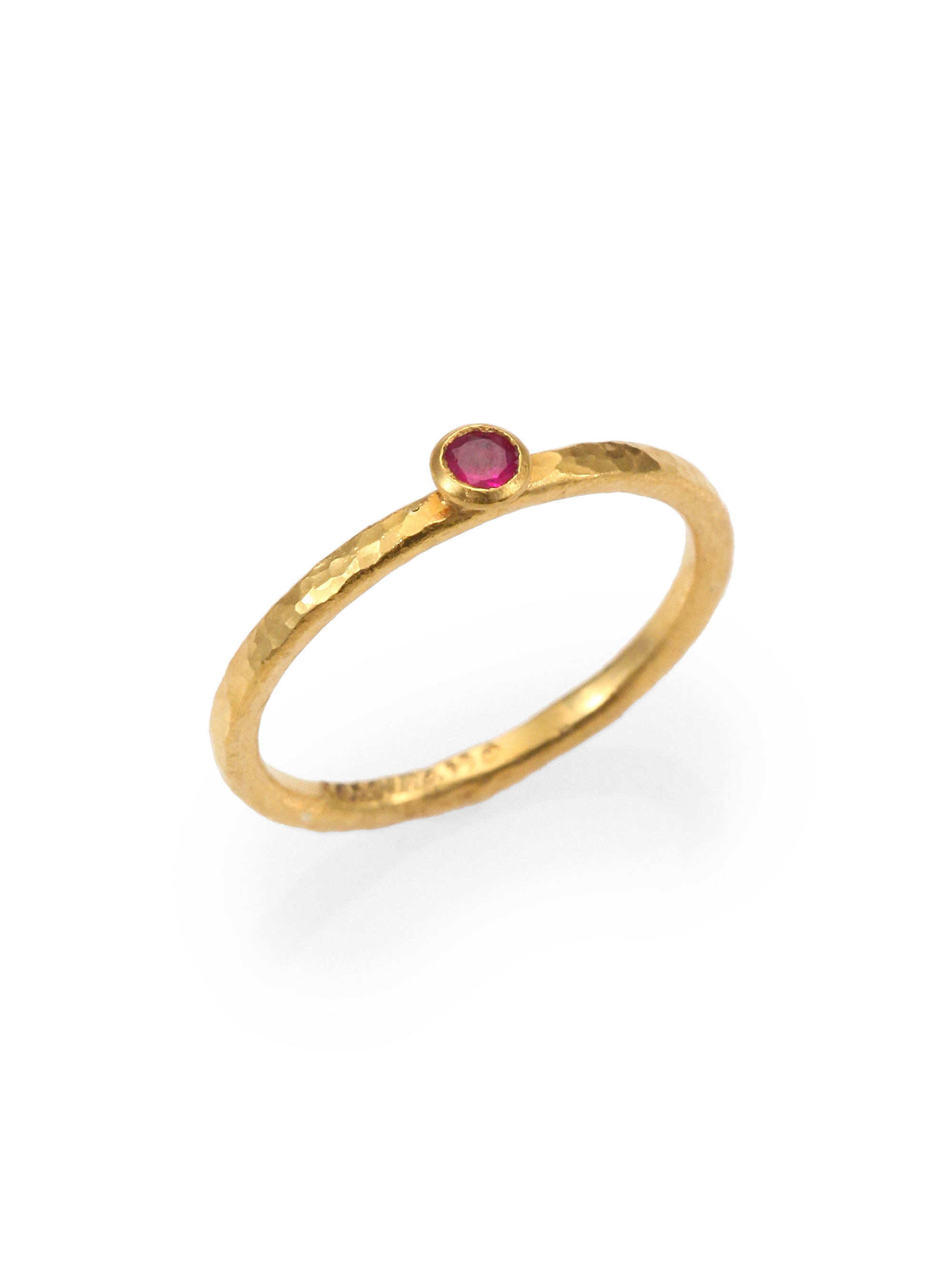 gurhan ruby 24k yellow gold ring in gold gold ruby lyst. Black Bedroom Furniture Sets. Home Design Ideas