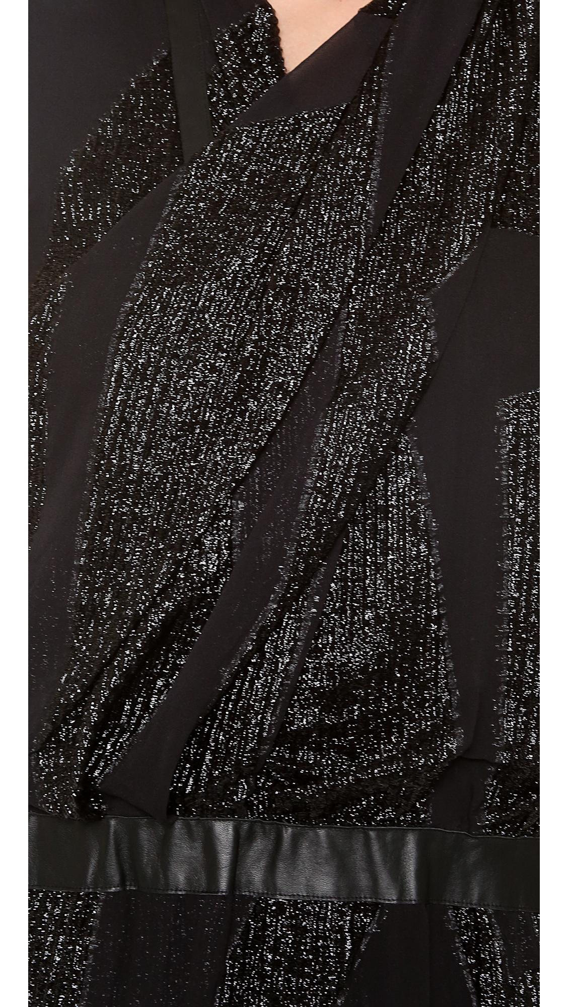 Lyst Helmut Lang Eros Dress In Black