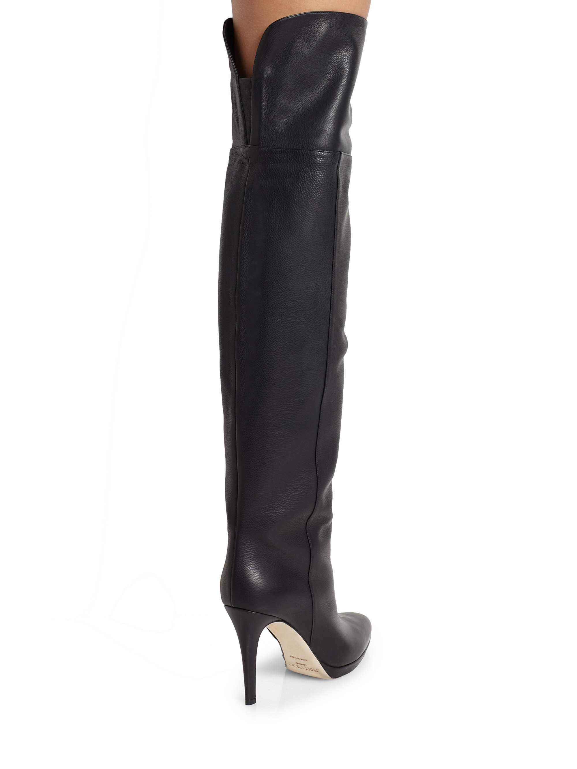 c21a0a43ab3 ... Lyst - Jimmy Choo Gypsy Leather Over-the-knee Boots in Black ...