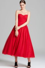 Ml Monique Lhuillier Strapless Ballerina Dress - Lyst